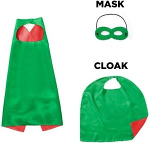 Kids Boy Superhero Cape And Mask Dress UP Theme Party Fancy Capes Hero Costume
