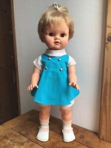 """VINTAGE PALITOY DOLL 1960s PATTI PITTA PAT 21"""" ORIGINAL OUTFIT SHOES WALKS WORKS"""