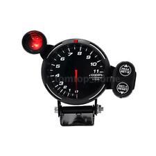 "3.5"" Tachometer Gauge Kit  WHITE LED 11000 RPM Meter with Adjustable Shift W0Q2"