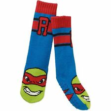 Teenage Mutant Ninja Turtles Raphael Slipper Socks Kids Shoe Size 7 1/2 - 3 1/2