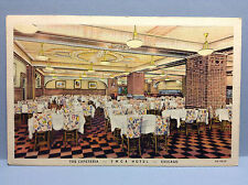 Cafeteria YMCA Hotel Chicago Cook Illinois Wabash Ave Vtg Postcard Posted 1939