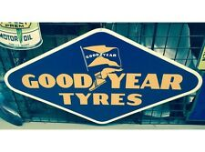 NEW Goodyear Diamond tin metal sign
