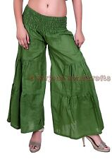 New Women Green Cotton Palazzo Harem Pants Dance Trousers Afghani Yoga Hippie