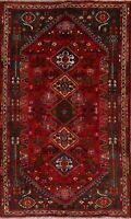 Decorative Geometric Abadeh Nafar Oriental Hand-Knotted Area Rug Wool Carpet 6x9