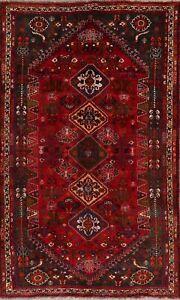 Decorative Geometric Abadeh Nafar Oriental Hand-Knotted Area Rug Wool Carpet 6x9