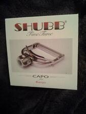 Shubb Capo F5r Finetune Fine Tune for radiused Banjos new in box