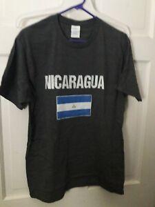 República de Nicaragua Patriotic  flag T-shirt  camiseta camisa bandera Nica L