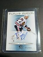 12/12 SP AUTHENTIC BRANDON BOLLIG #214 FUTURE WATCH AUTO #471/999