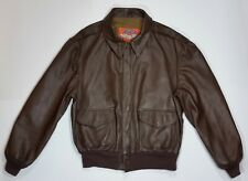 Mens Cooper Brown Type A-2 USAF Goatskin Leather Flight Jacket size 46R XL