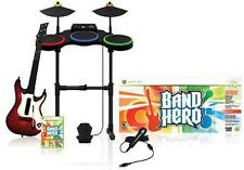 BAND HERO Super Bundle Kit Game Set guitar XBOX 360 microsoft drums/mic/game OEM