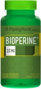 Bioperine Nutrient Absorption Enhancer (Pepper Extract)10 mg 120 Capsules