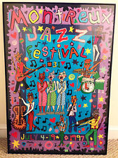 RARE Original James Rizzi MONTREUX JAZZ FESTIVAL 1997 Concert Poster - Framed