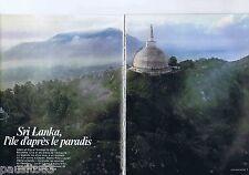 COUPURE DE PRESSE CLIPPING 1983 GEO : Sri Lanka, l'île d'après le paradis (30pg)