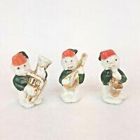 Set of 3 Vintage Japan Porcelain Monkeys Playing Instruments Figurines