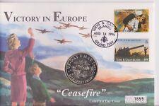 Turks & Caicos FAR rintracciare COIN COVER 5 CORONE Cessate il Fuoco vittoria in Europa