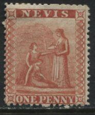 Nevis 1867 1d red mint o.g.