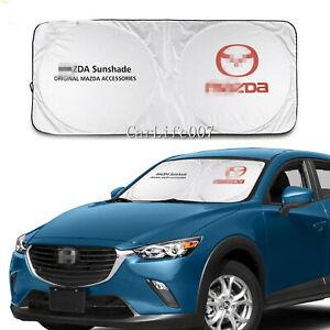 Car Front Windshield Sun Shade Shield Cover Visor UV Block Foldable for Mazda