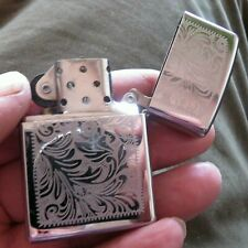 Venetian Engraved Polished Chrome ZIPPO LIGHTER C13 EMILY