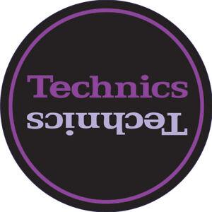 2x DMC Official Technics 'Limited Edition' Purple Turntable Slipmats / Slip Mats