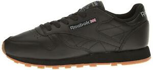 Reebok Women's Classic Leather Sneaker, Black/Gum, Size 9.0 F2ug