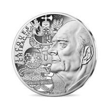 """Pièce de 10 euros argent """"Jacques Chirac""""."""