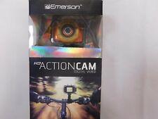Emerson - HD Action Cam - Digital Video Camera, Bike & Helmet Mount Orange