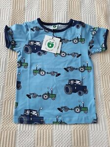 NEW Smafolk T Shirt Years 3-4 Size 98-104 cm. Tractors Blue