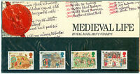 1986 GB, 'Medieval Life', Royal Mail Stamps Presentation Pack  (No. 172)