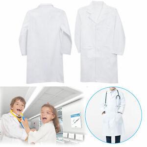 Kinder Berufskittel Arztkittel Arztmantel Labormantel Laborkittel Kleidung Weiß