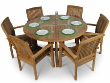 Wooden Up to 6 Seats 7 Pieces Table & Chair Sets