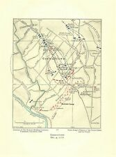 Original Antique 1777 Revolutionary War Map Germantown Oct. 4, 1777