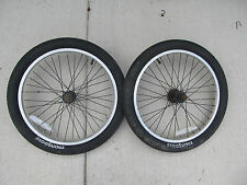 "BMX Mongoose 20"" bikes Front & Back Wheels with Tires in fair condition"