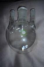 3-Halskolben 500 ml, MH NS 29/32, NS 14,5 Jenaer Boral Pula Borosilikat-Glas