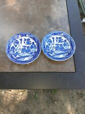 Two BLUE WILLOW Butter Pats/Saucers  ~~   Made in Japan