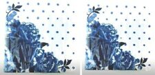 Pioneer Woman Paper Napkins Set of 2 Blue Floral Dots Square Recipe