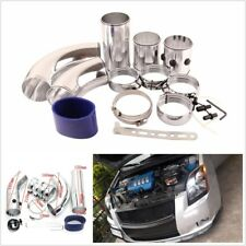 Universal Aluminum 3'' Air Intake Pipe Turbo Cold Air Filter Hose Intake System