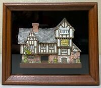 David Winter Cottages The Plucked Ducks Shadow Box 1989
