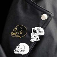 Heart-shaped Cats Enamel Pin Skull Head Sex In mind Badge Brooch Hot #ev