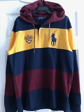 NWT- POLO RALPH LAUREN Men's Classic Fit Long Sleeve Shirt Pullover Hoodie- Sz L