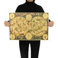 Ancient Astrology Zodiac Map Kraft Paper Wall Decor Poster 51*36 cm/ 20*14 in