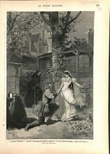 Le roi s'amuse Victor Hugo Maison Triboulet Théâtre-Français 1882 ILLUSTRATION