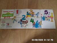 Nintendo NES (1988) Sesame Street 1 2 3 Promo Poster / Insert