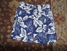 CHAPS MEN'S BLUE WHITE FLORAL SWIM TRUNK SIZE SMALL TROPICAL BEACH