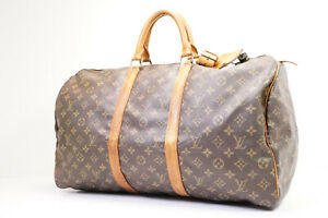 Auth Pre-owned Louis Vuitton Monogram Keepall 50 Travel Duffle Bag M41426 210305