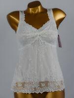 ARIANNE - TAILLE XL - Haut Caraco en dentelle 5174, Coloris : Blanc