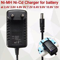 Ni-MH Ni-Cd Cargador Batería Adapter 2.4V 3.6V 4.8V 6V 7.2V 8.4V 9.6V 10.8V 12V