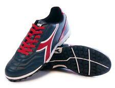 Diadora Men's Capitano TF Turf Soccer Shoes (Navy Blue / Red)