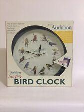 "Mark Feldstein & Associates Audubon Singing Bird Clock 13"""