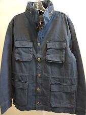 NWOT $295 Slate & Stone Cotton Navy Ryder Utility Buttoned/IZipp Jacket -Sz-XL *