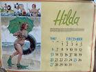 VINTAGE 1988 HILDA CALENDAR ILLUSTRATED BY DUANE BRYERS Pinup Girl Vtg